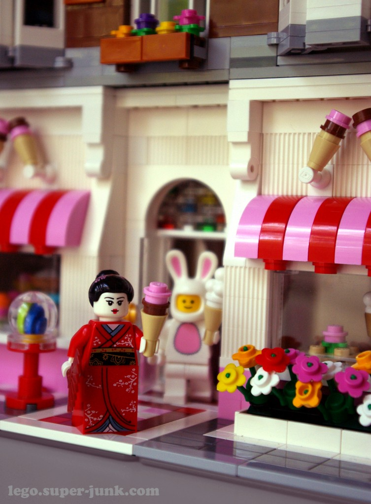 Lego Ice cream shop by Super-Junk