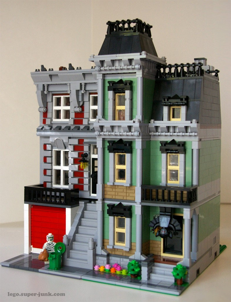 Lego Fire Brigade and Haunted House by Super-Junk
