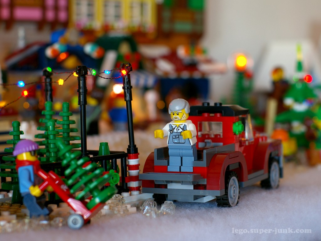 Lego Christmas tree lot by Super-Junk