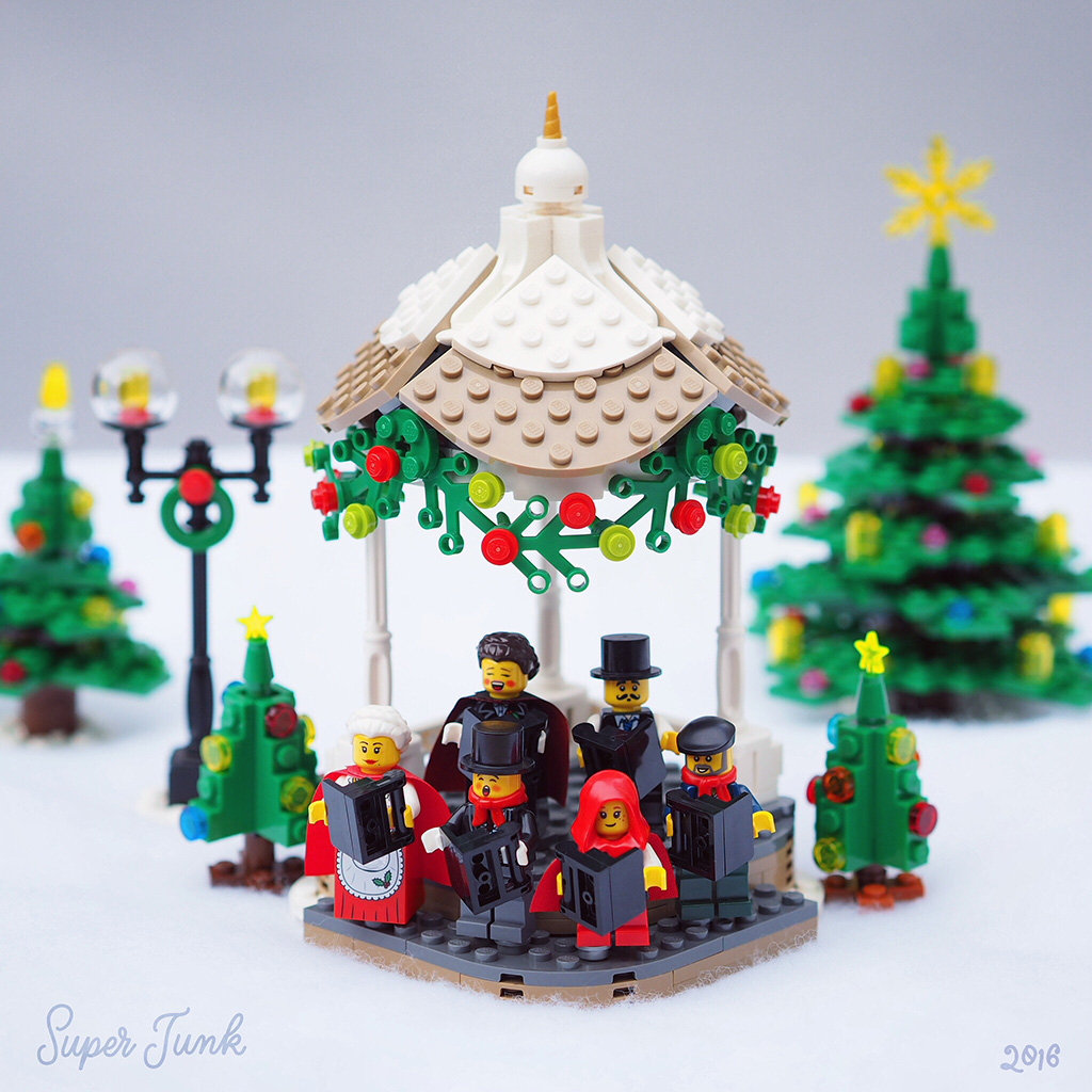 Lego MOC Winter Village christmas carolers