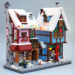 Lego MOC Winter Village Bakery and Cottage by Super-Junk