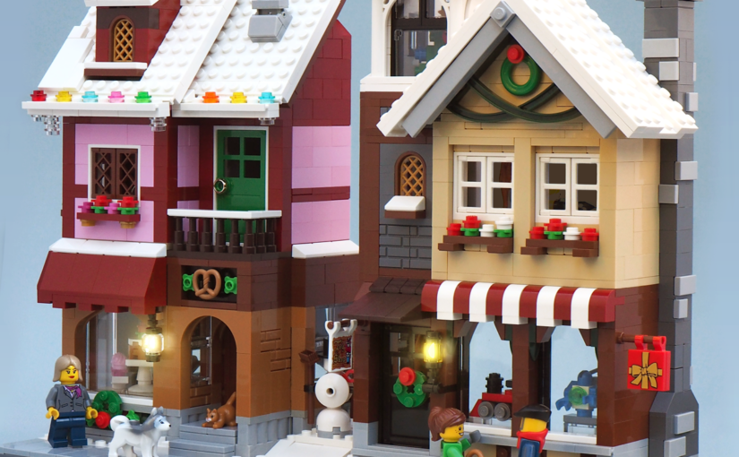 4 years of Lego Winter Village Displays