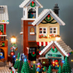 Lego MOC Winter Village by Super Junk - Bakery and Tree lot